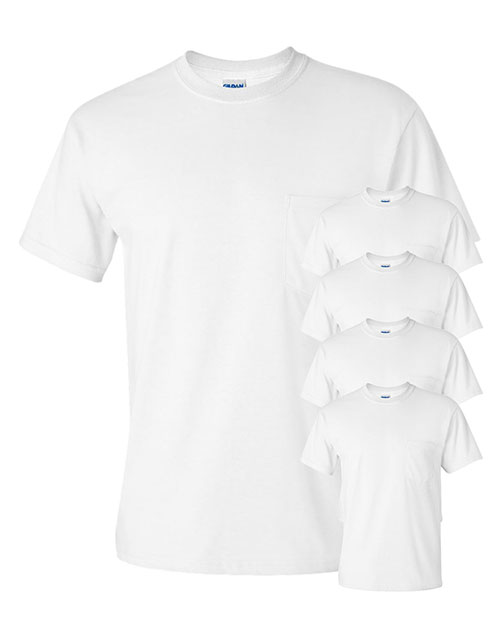 Gildan G230 Men Ultra Cotton  6 Oz. Pocket T-Shirt 5-Pack at GotApparel