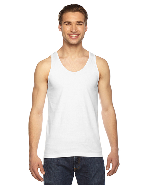 American Apparel 2408 Men Fine Jersey USA Made Tank at GotApparel
