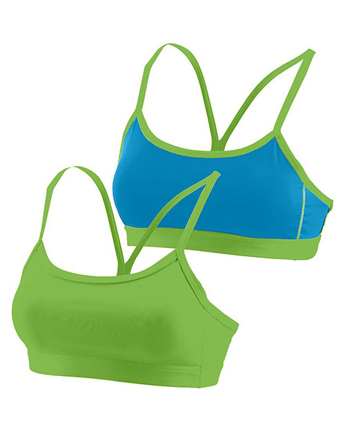 Augusta 2416 Girls Encore Reversible Sports Bra LM/PB at GotApparel