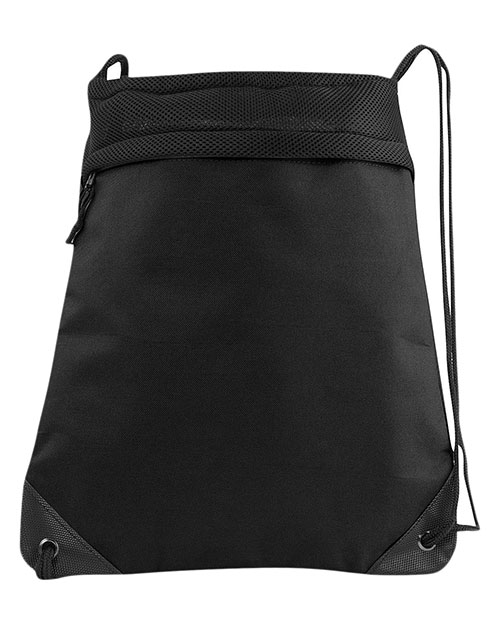 Liberty Bags 2562 Coast to Coast Drawstring Pack BLACK at GotApparel