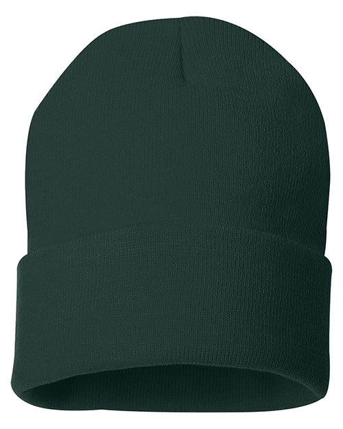 Sportsman Sp12  12 Inch Solid Knit Beanie at GotApparel