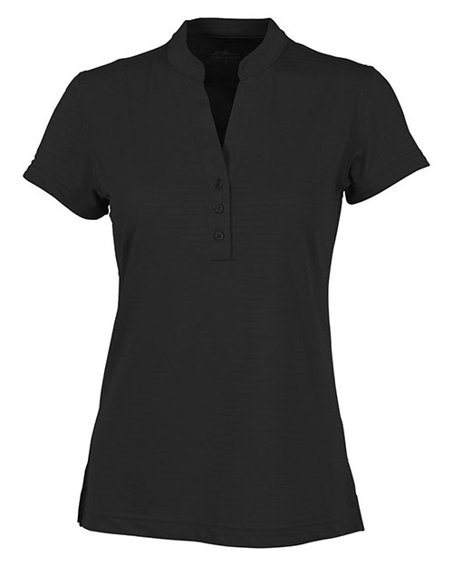 Charles River Apparel 2617 Women Shadow Stripe Mandarin Collar Polo at GotApparel