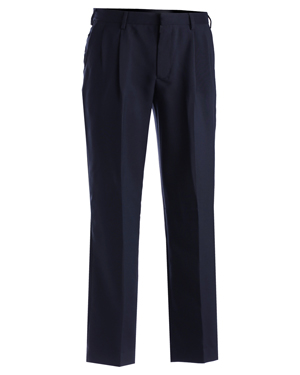 Edwards 2695 Men Pleated Polyester Pant at GotApparel