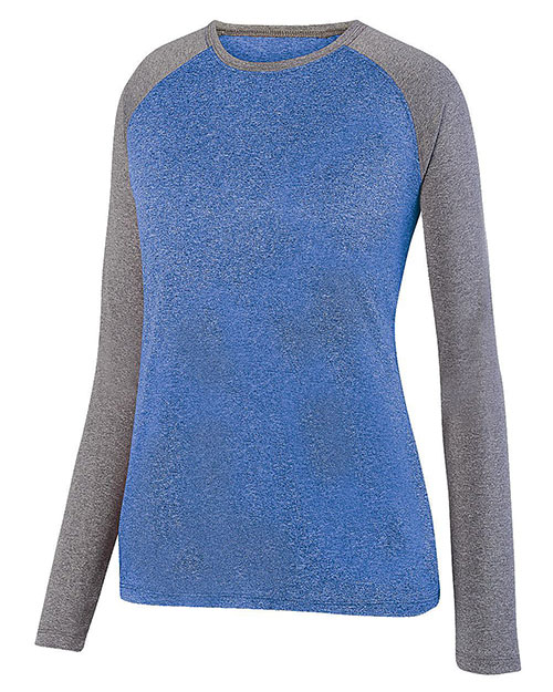 Augusta 2817 Women Kinergy Two Color Long Sleeve Raglan Tee at GotApparel