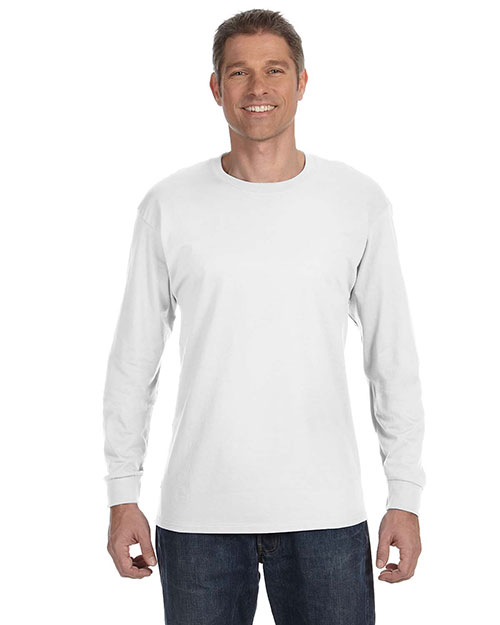 Jerzees 29L Men Dri-POWER® ACTIVE 5.6 oz., 50/50 Long-Sleeve T-Shirt White at GotApparel