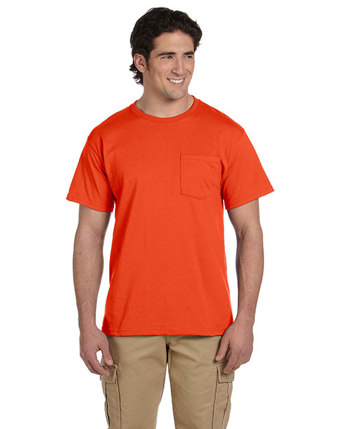 Jerzees 29P Men's Dri-POWER® ACTIVE 5.6 oz., 50/50 Pocket T-Shirt Burnt Orange at GotApparel