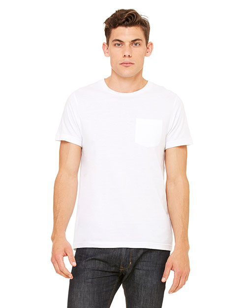 Bella + Canvas 3021 Men Jersey ShortSleeve Pocket TShirt White at GotApparel