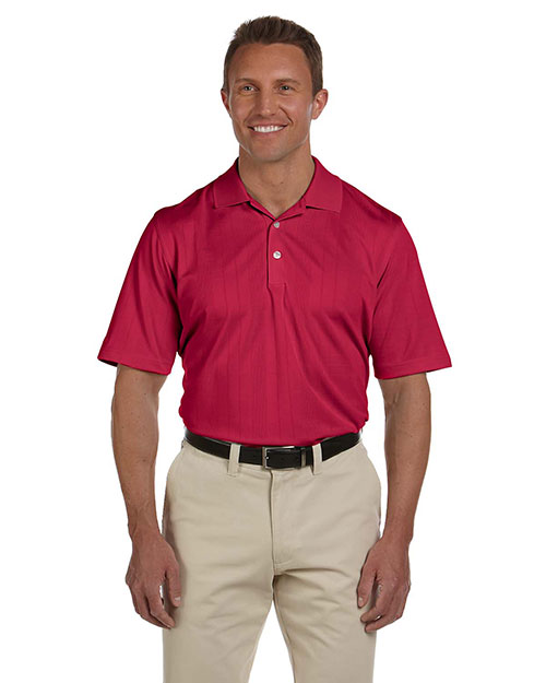 Ashworth 3045 Men Performance Texture Polo Carmine Red at GotApparel