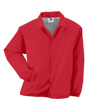 Augusta 3100 Men Lined Nylon Coach's Jacket Red at GotApparel