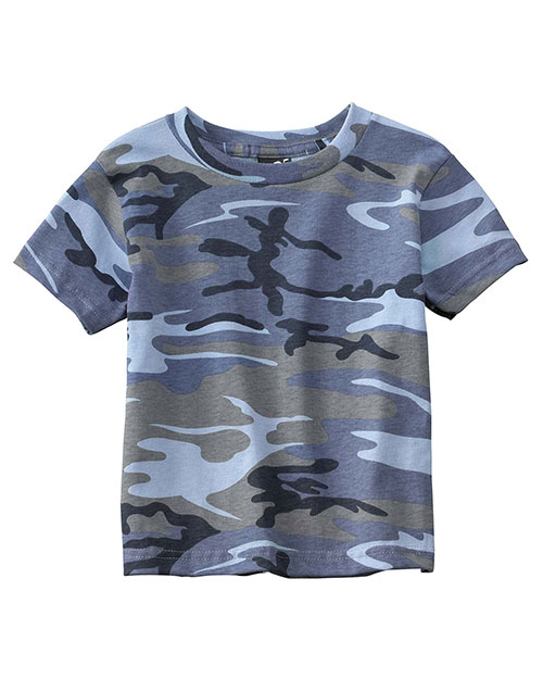Code V 3315 Infants Toddlers Camo Tee Blue Woodland at GotApparel