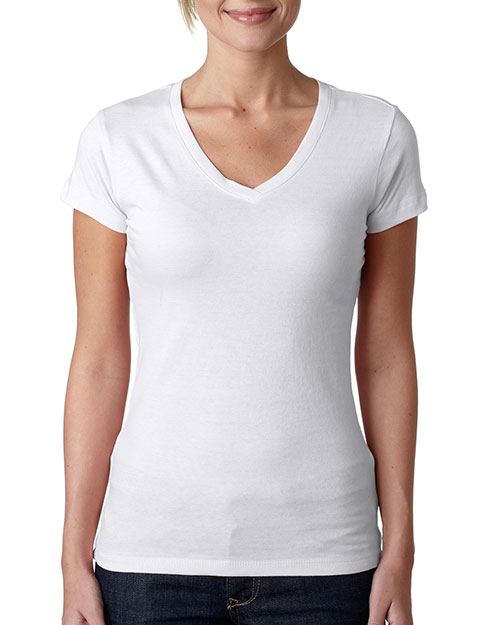 Next Level 3400L Women Sporty V White at GotApparel