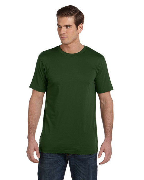 Bella + Canvas 3402 Men Vintage Jersey ShortSleeve TShirt Olive at GotApparel