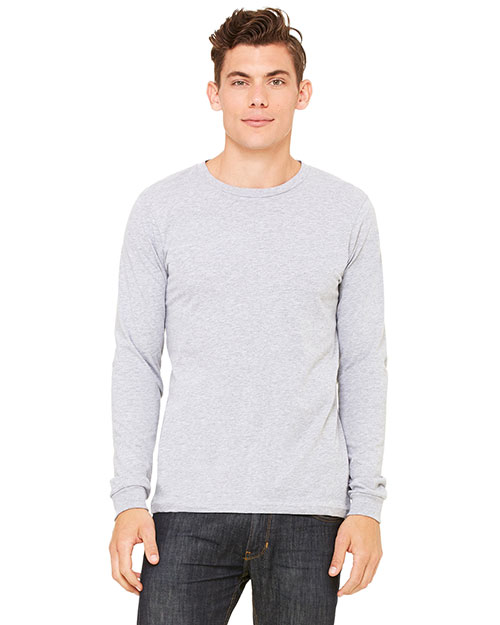 Bella + Canvas 3501 Men Jersey LongSleeve TShirt Athletic Heather at GotApparel