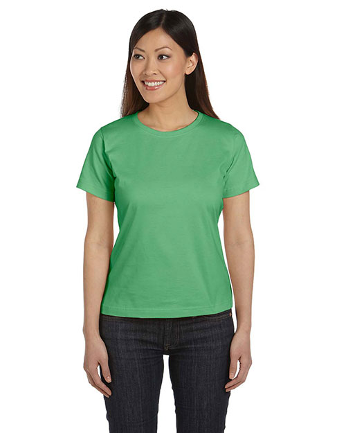 LAT 3580 Women Ringspun Scoop Neck T-Shirt Grass at GotApparel