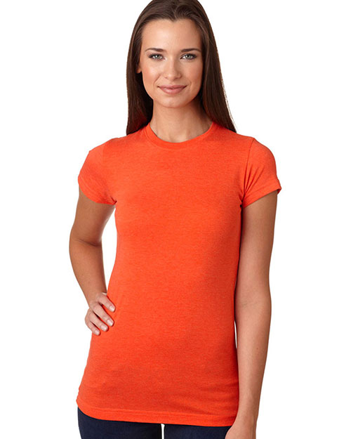 LAT 3605 Women Vintage Jersey Longer Length T-Shirt Vintage Orange at GotApparel
