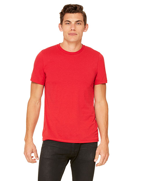 Bella + Canvas 3650 Unisex Poly Cotton Short-Sleeve Tee Red at GotApparel
