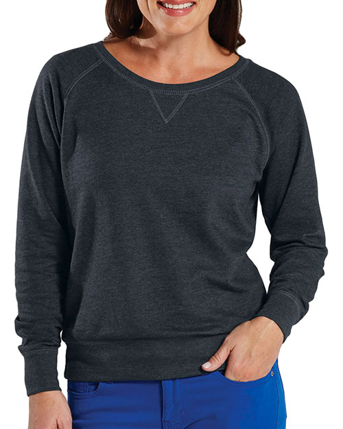 LAT 3762 Slouchy Pullover Smoke at GotApparel