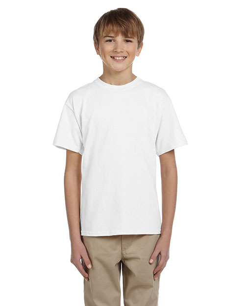 Fruit of the Loom 3931B Boys 5 oz., 100% Heavy Cotton HD T-Shirt White at GotApparel