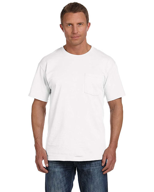 Fruit Of The Loom 3931P Men 5 Oz. 100% Heavy Cotton HD Pocket T-Shirt at GotApparel