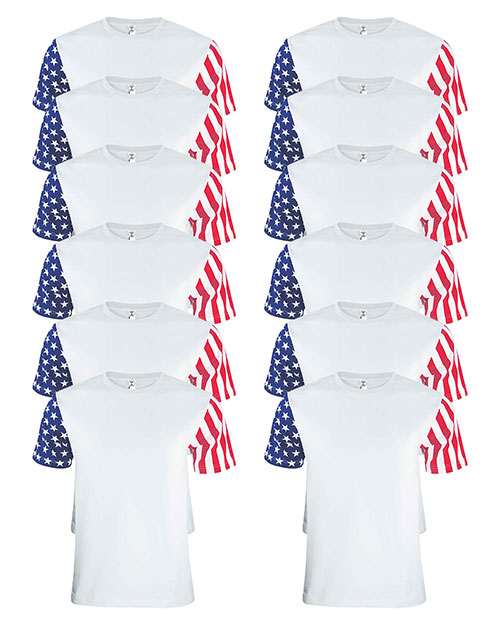 Code V 3976 Men Stars & Stripes T-Shirt 12-Pack at GotApparel