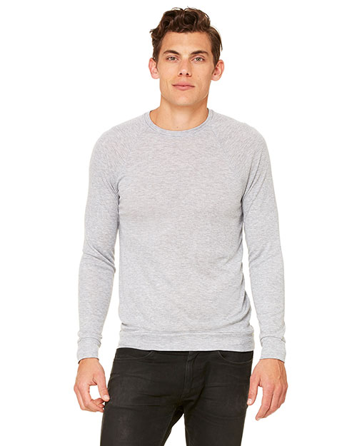 Bella + Canvas 3981C Unisex Lightweight Sweater Athletic Heather at GotApparel