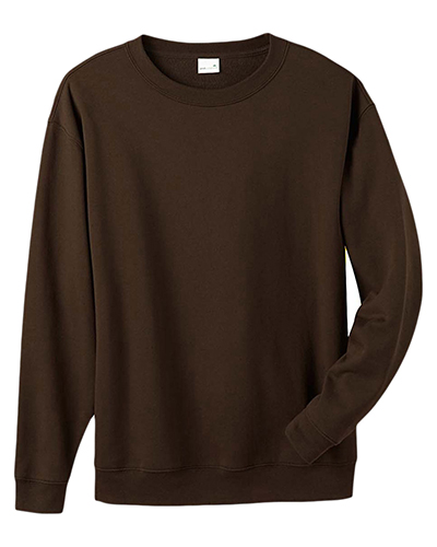 Anvil 4000A Organic 8 oz. Cotton/Recycled Polyester Crew CHOCOLATE at GotApparel