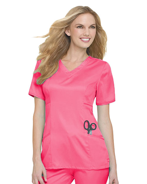 Landau 4041 Women Tailored V-Neck Tunic at GotApparel