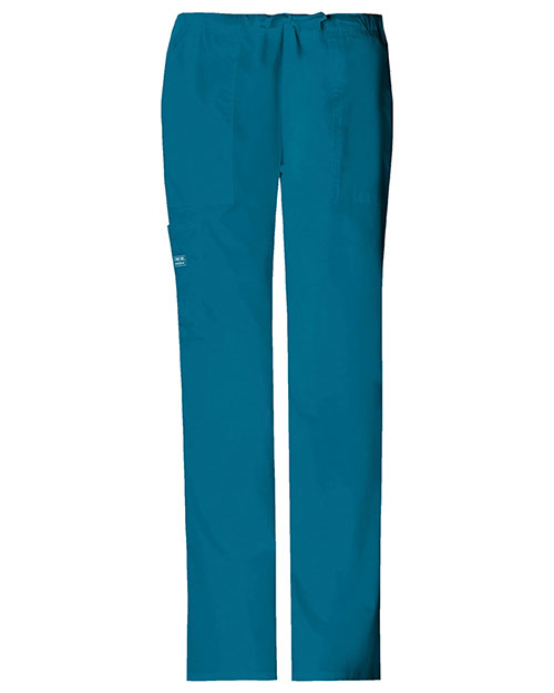 Cherokee Workwear 4044T Women Mid Rise Drawstring Cargo Pant at GotApparel