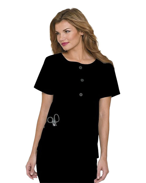 Landau 4057 Women Wavy Placket Tunic at GotApparel