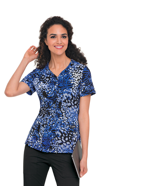 Landau 4117 Women Snap Front Tunic at GotApparel