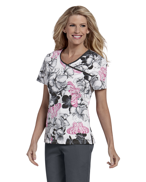 Landau 4120 Women Bound Surplice Top at GotApparel
