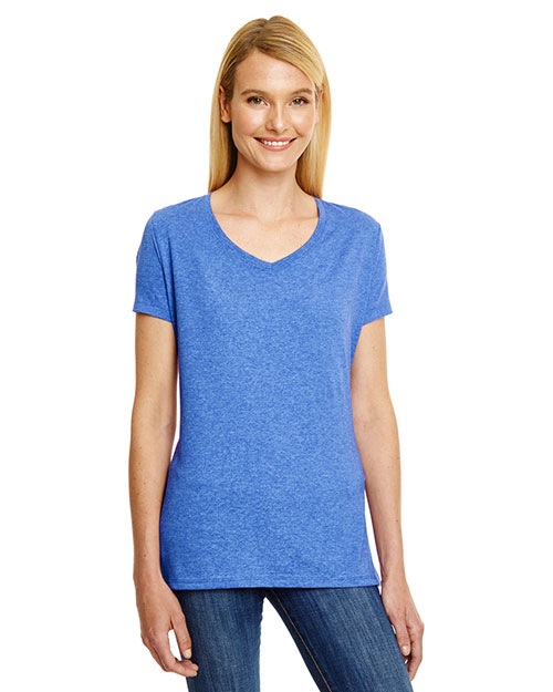 Hanes 42VT Women X-Temp® Triblend V-Neck T-Shirt at GotApparel