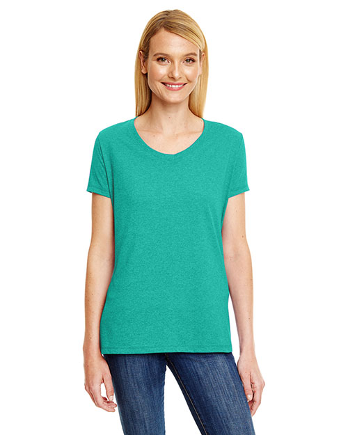 Hanes 42vt   ' X-Temp® Triblend V-Neck T-Shirt at GotApparel