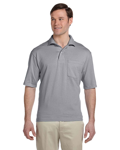 Jerzees 436P Men 5.6 oz., 50/50 Jersey Pocket Polo with SpotShield at GotApparel