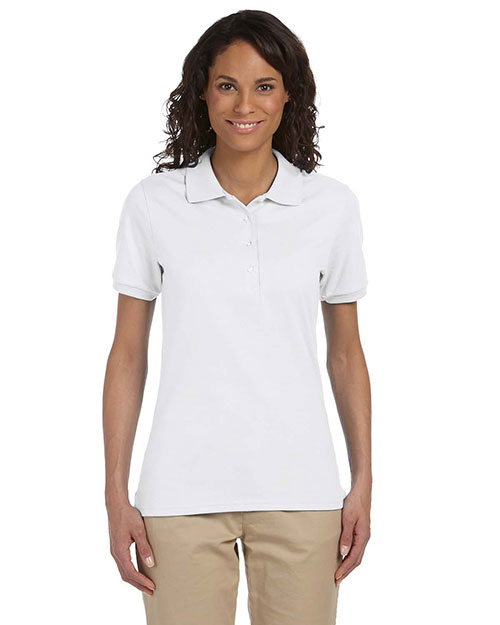 Jerzees 437W Women's 5.6 oz., 50/50 Jersey Polo with SpotShield™ White at GotApparel