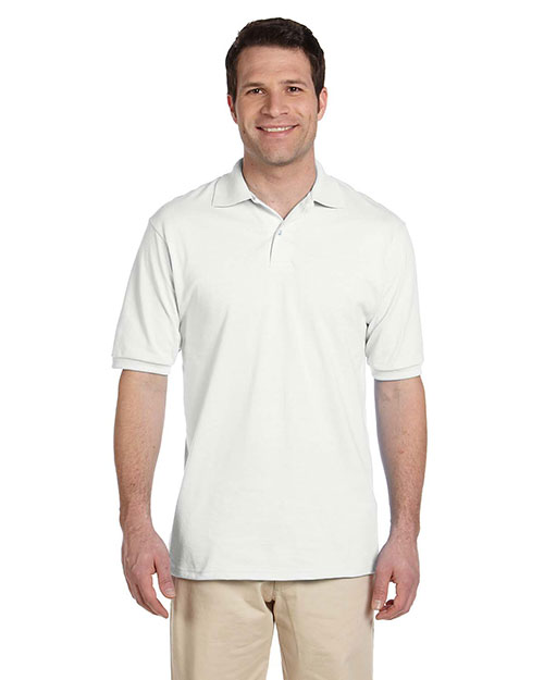 Jerzees 437  50/50 Jersey Polo w/SpotShield WHITE at GotApparel