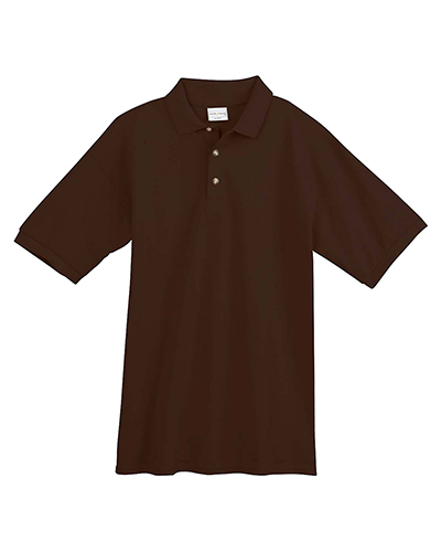 Anvil 4402 Organic 6.5 oz., 100% Ringspun Cotton Pique Sport Shirt CHOCOLATE at GotApparel