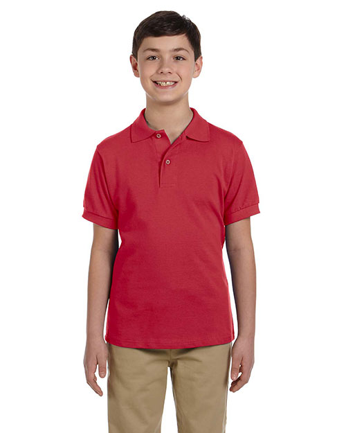 Jerzees 440Y Boys Pique Polo True Red at GotApparel