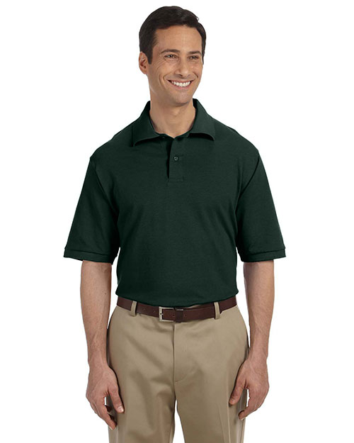 Jerzees 440 Men 6.5 oz. Ringspun Cotton Pique Polo Forest Green at GotApparel
