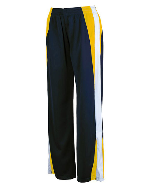 Charles River Apparel 4496 Girls Energy Pant Navy/Gold/White at GotApparel