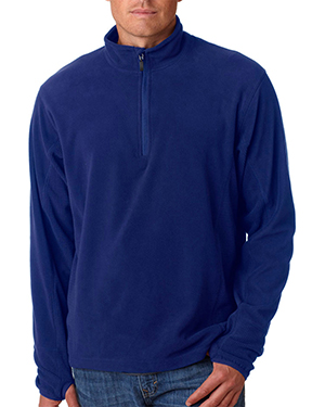 Storm Creek 4609  Mens 1/4 Zip Butter Fleece Mediterranian Blue at GotApparel