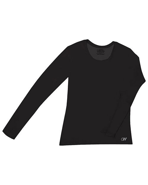 Cherokee Workwear 4975 Women Long-Sleeve Crew Neck Knit Tee at GotApparel