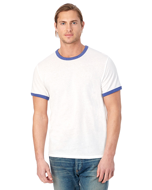 Custom Embroidered Alternative Apparel 5103BP Men 4.4 oz. Keeper Ringer T-Shirt at GotApparel