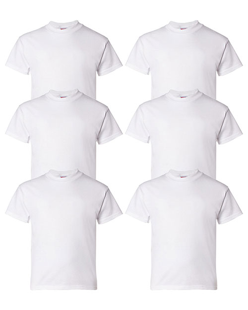 Hanes 5480 Boys 5.2 Oz. Comfort Soft Cotton T-Shirt 6-Pack at GotApparel