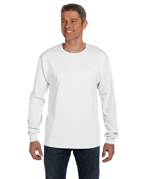 Hanes 5596 Men 6.1 oz. Tagless® ComfortSoft® Long-Sleeve Pocket T-Shirt at GotApparel