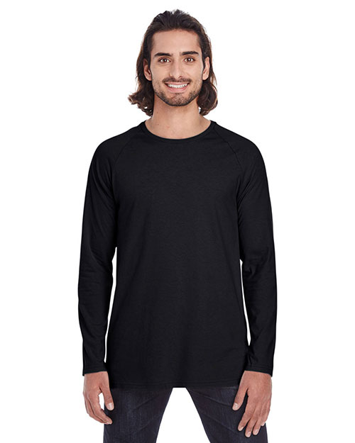Anvil 5628 Men Lightweight Long & Lean Raglan Sleeve T-Shirt at GotApparel