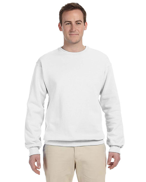 Jerzees 562 Men 8 oz., 50/50 NuBlend Fleece Crew White at GotApparel