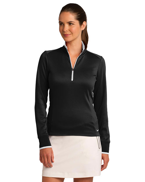 Nike 578674 Ladies 8.3 oz Dri-FIT 1/2-Zip Cover-Up at GotApparel