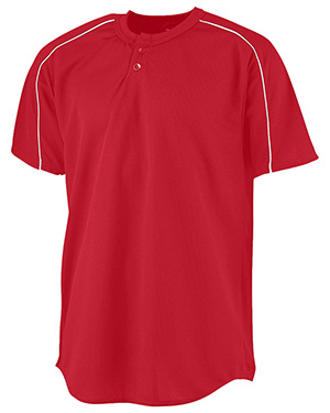 Augusta 586 Boys Wicking 2-Button Baseball Jersey at GotApparel