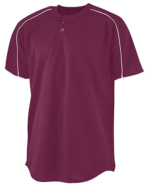 Augusta 586 Boys Wicking Two-Button Baseball Jersey at GotApparel